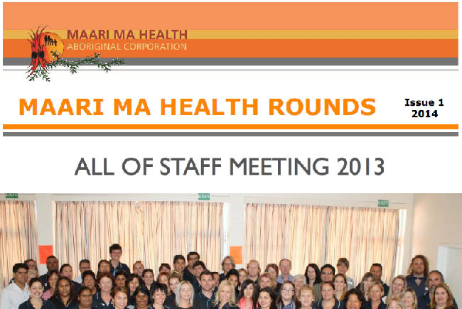 Maari Ma Health Rounds Issue 1 : 2014