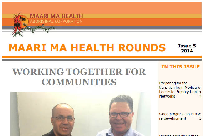 Maari Ma Health Rounds Issue 5 : 2014