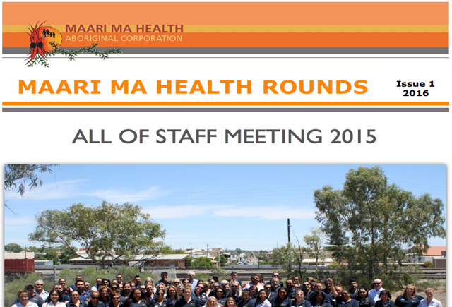 Maari Ma Health Rounds Issue 1 : 2016