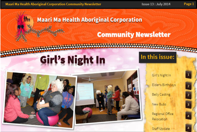 Maari Ma Health Community Newsletter Issue 13