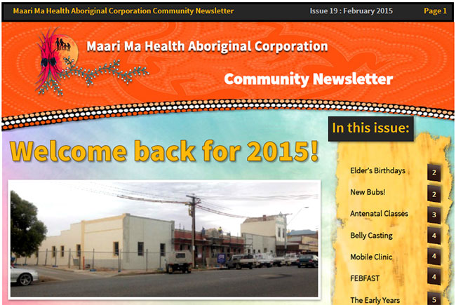 Maari Ma Health Community Newsletter Issue 19