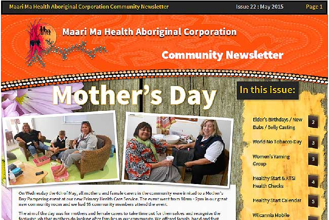 Maari Ma Health Community Newsletter Issue 22