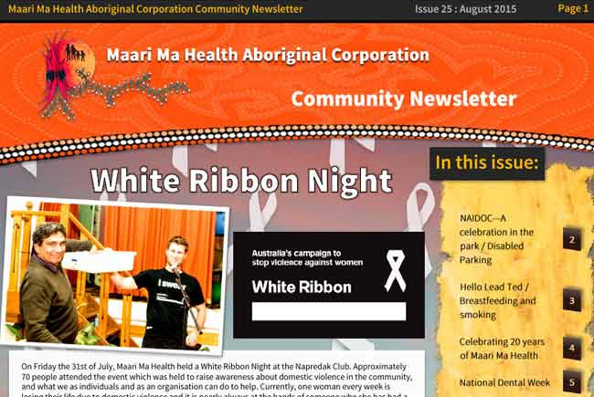 Maari Ma Health Community Newsletter Issue 25