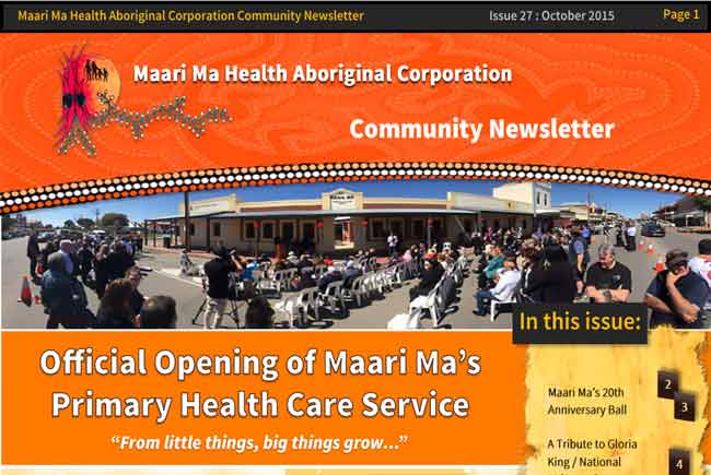 Maari Ma Health Community Newsletter Issue 27