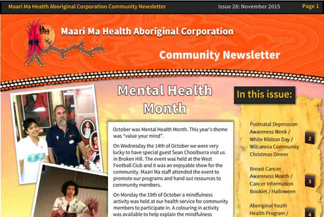 Maari Ma Health Community Newsletter Issue 28