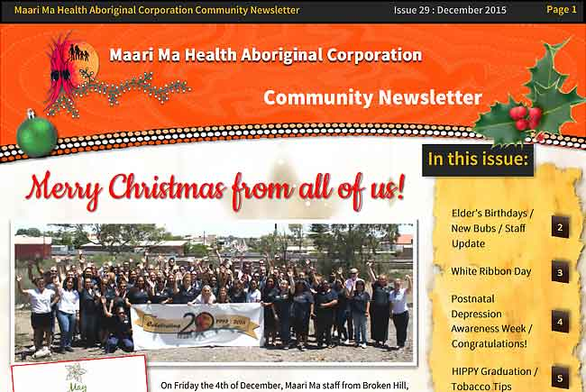 Maari Ma Health Community Newsletter Issue 29