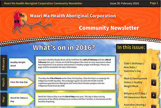 Maari Ma Health Community Newsletter Issue 30