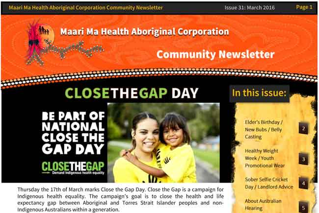 Maari Ma Health Community Newsletter Issue 31