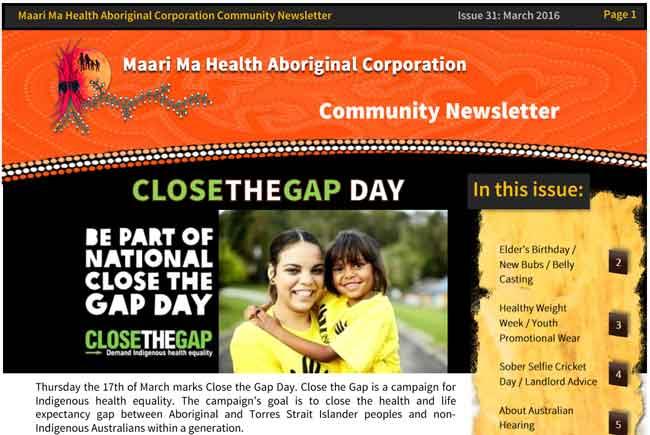Maari Ma Health Community Newsletter Issue 31
