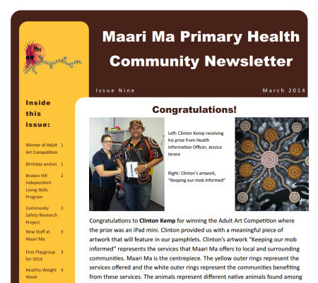 Maari Ma Health Community Newsletter Issue 9