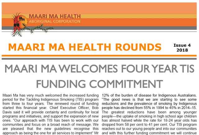 Maari Ma Health Rounds Issue 4 : 2018