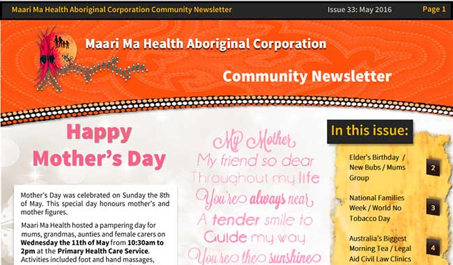 Maari Ma Health Community Newsletter Issue 33