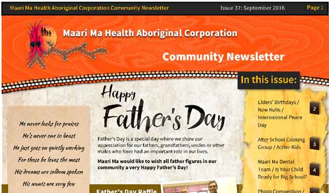 Maari Ma Health Community Newsletter Issue 37