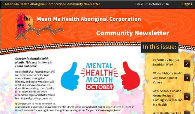 Maari Ma Health Community Newsletter Issue 38