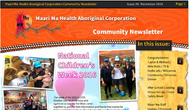 Maari Ma Health Community Newsletter Issue 39