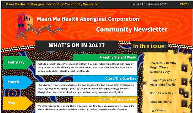 Maari Ma Health Community Newsletter Issue 41