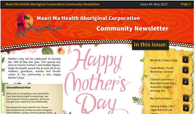 Maari Ma Health Community Newsletter Issue 44
