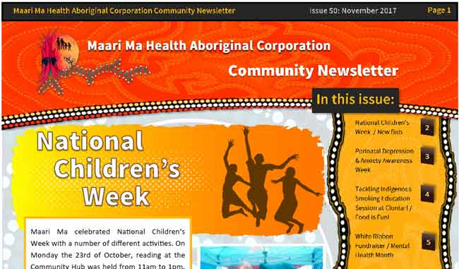 Maari Ma Health Community Newsletter Issue 50