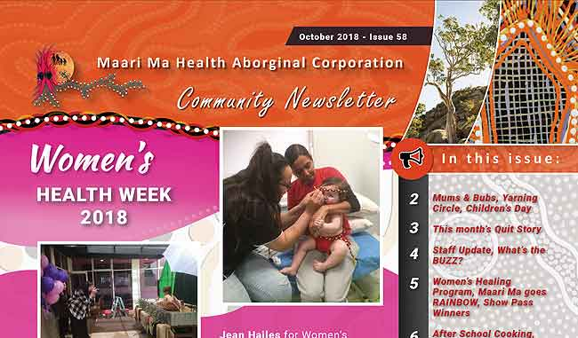 Maari Ma Health Community Newsletter Issue 58