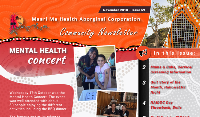 Maari Ma Health Community Newsletter Issue 59