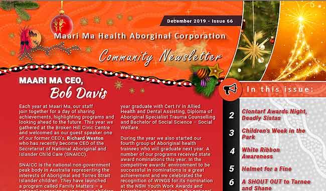 Maari Ma Health Community Newsletter Issue 66