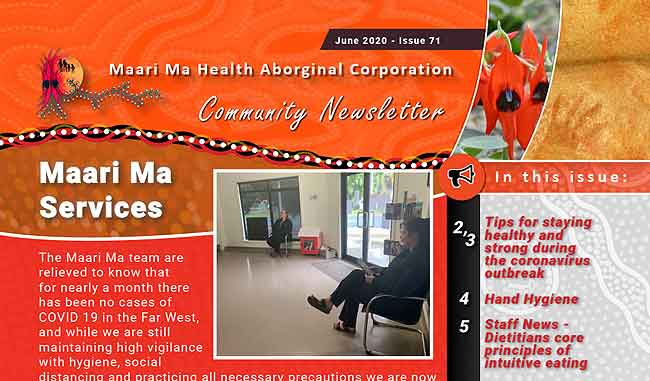 Maari Ma Health Community Newsletter Issue 71