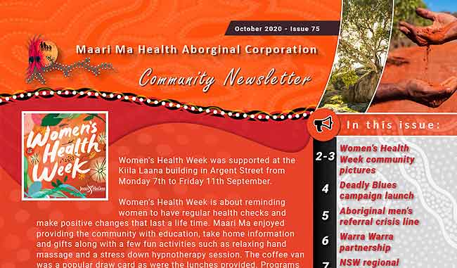 Maari Ma Health Community Newsletter Issue 75