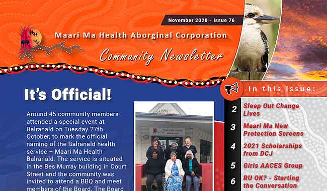 Maari Ma Health Community Newsletter Issue 76