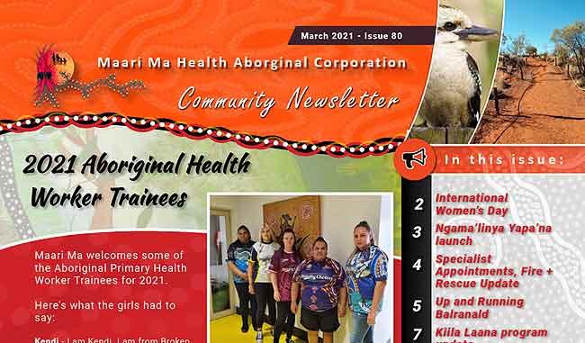 Maari Ma Health Community Newsletter Issue 80
