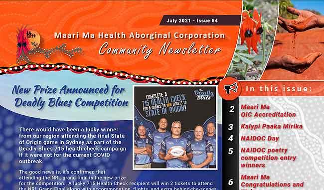Maari Ma Health Community Newsletter Issue 84